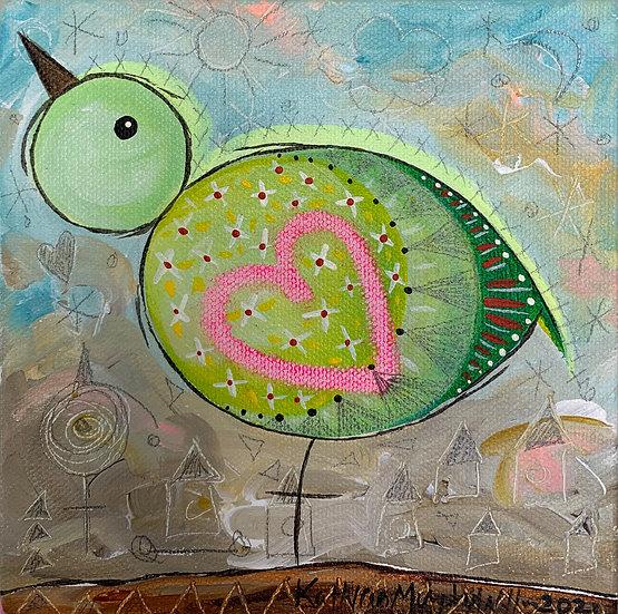 """""""Bird B""""   6 x 6"""