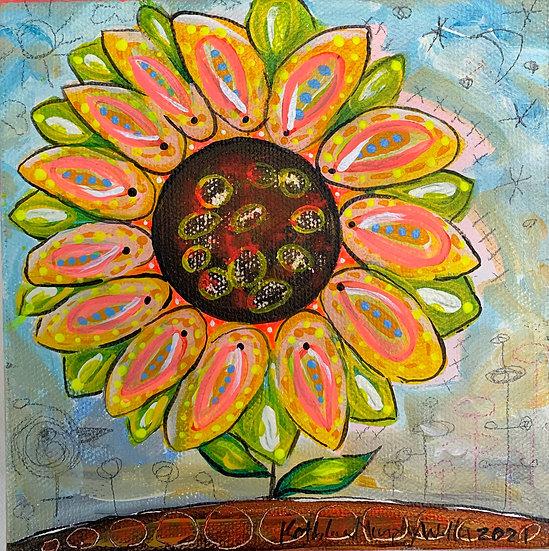 """""""Sunflower A""""  6 x 6"""