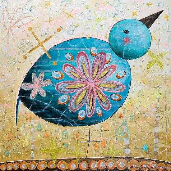 "Blue Bird"" 30x30"