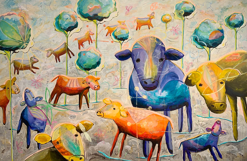 """""""Cows I See"""" 40x60"""