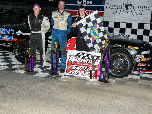 LUKE FENHAUS RELISHES MARSHFIELD MOTOR SPEEDWAY IN FEATURE WIN!