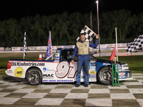 James Swan Takes Home the Checkered Flag in Midwest Truck Series