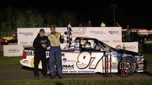 James Swan goes two in a row and wins the Van Der Geest Cattle 50 at State Park Speedway