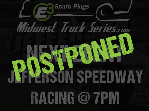 Potential weather postpones July 20th race at Jefferson Speedway