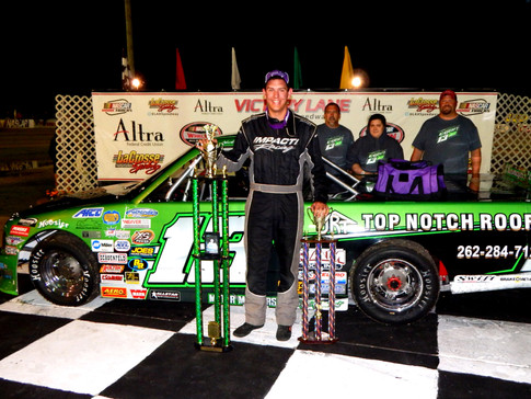 EGAN GRABS FIRST MIDWEST TRUCK SERIES WIN AT LAX. 6TH SERIES DRIVER TO VISIT VICTORY LANE IN 2016.