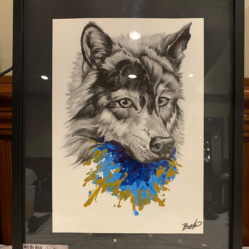 Unique Wolf Print by Brock