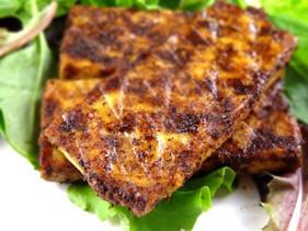 Crispy Tofu with Cacao Nib Rub