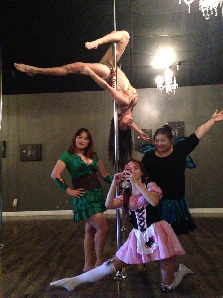 Costume themed pole party
