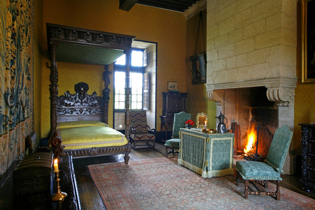 Chambre jaune en hiver