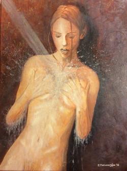 Γυναίκα στο ντουζ