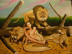 Γυναίκα με λιοντάρια