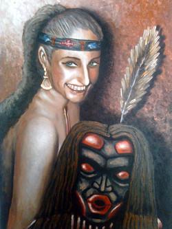 Κορίτσι με μάσκα Dzonokwa