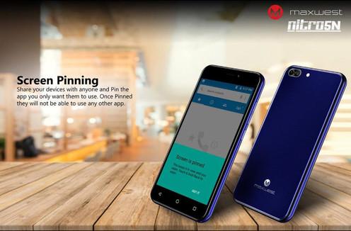 Maxwest Nitro 5N Unlocked Smartphone - Black - NITRO5N [New Version]