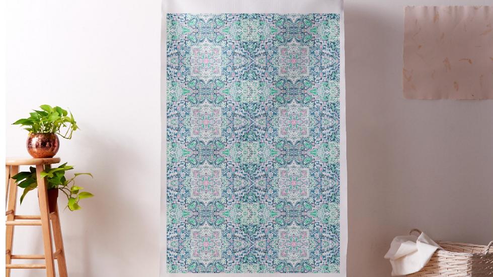 Natural Linen Printed Fabric