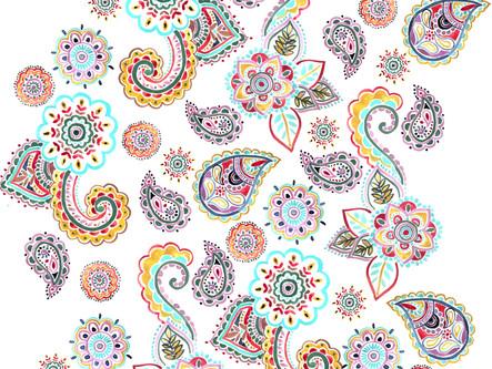 Floral Paisley Watercolors