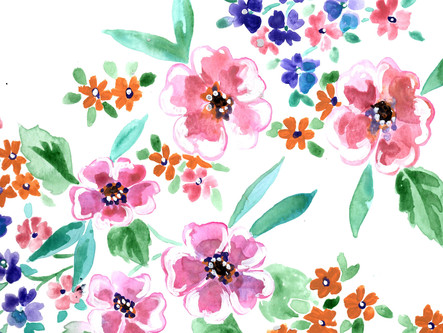 Sketches: watercolor roses