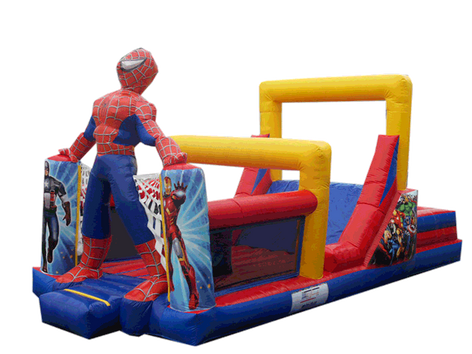 Combo spiderman 9x4 mts.