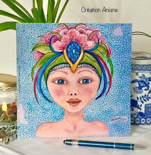 Carte Ondine bleue