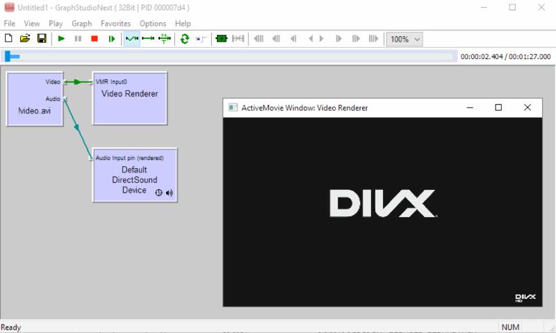 vlc source directshow filter screenshot