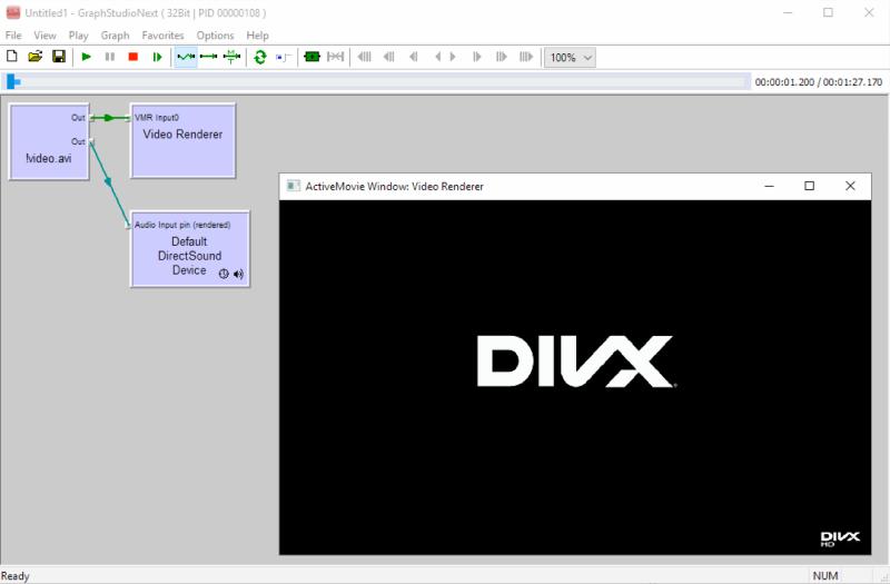 FFMPEG Source DirectShow filter screenshot