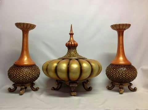juego de jarrones decorativos en resina - Jarrones Decorativos