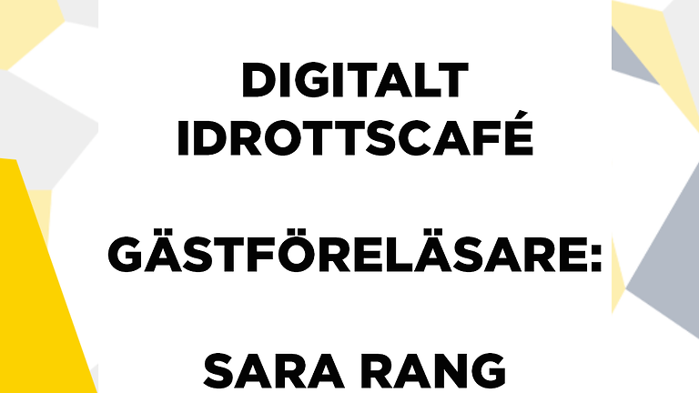 Digitalt idrottscafé - Tema idrottsnutrition med Sara Rang