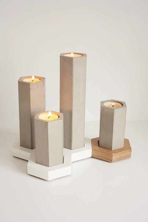 Stuðlar - stjakar úr steypu / Concrete Candle Holders