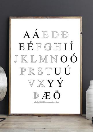 Íslenska stafrófið - Icelandic Alphabet