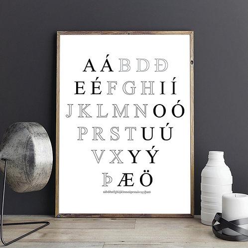 Íslenska Stafrófið Plakat / Poster