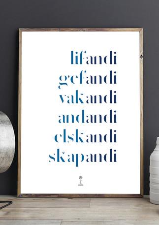 Lifandi... Skapandi Plakat