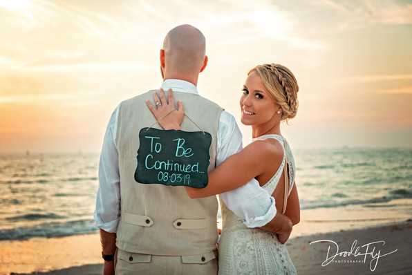 Wedding Photos, Sign, To Be Continued, Destination Wedding,   Bride & Groom, Fort Myers Beach, Pink Shell Resort, Wedding Photography,