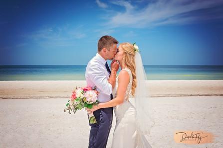 Bride & Groom Kiss, JW Marriott, Marco Island, Beach Wedding, Doodle Fly Photography