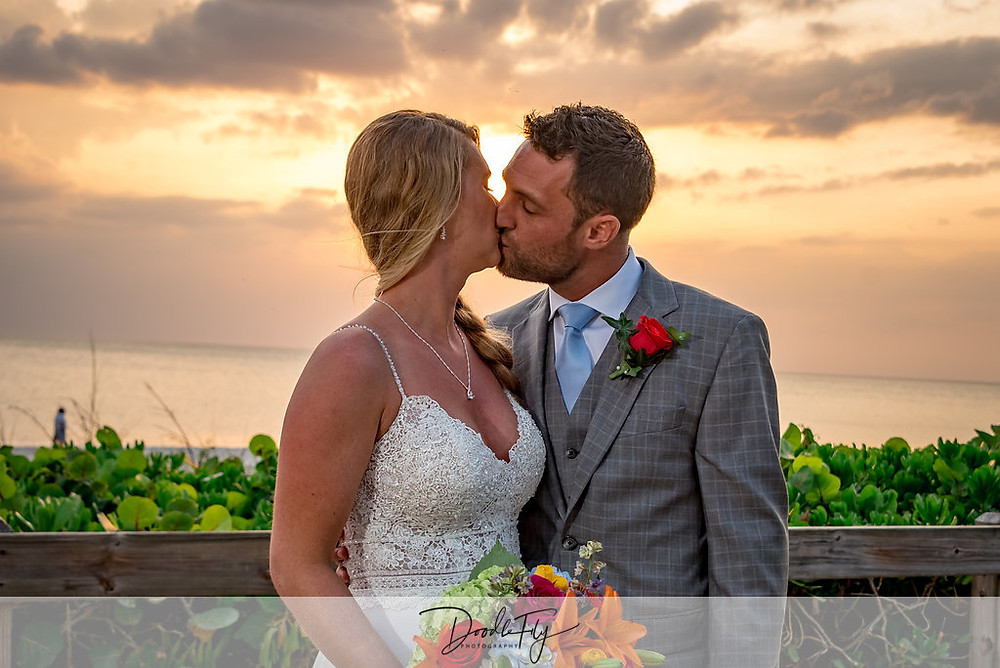 Wedding Ceremony, Wedding Beach, Naples, FL by Doodle Fly Photography
