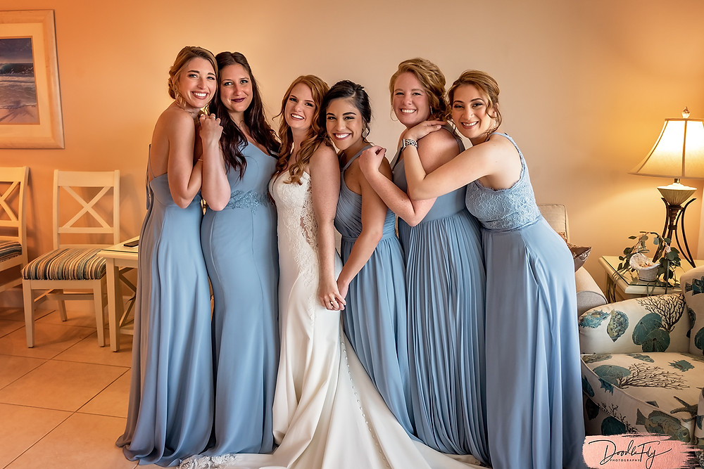 Bridal Party, Getting Ready, 2021 Wedding Sundial Resort, Sanibel Florida Wedding, Doodle Fly Photography Beach Wedding SWFL