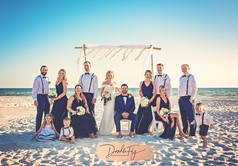Wedding Party Portrait at  Diamondhead Beach Resort, Fort Myers by Doodle Fly Photography