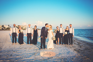 Wedding Party, Dimondhead Beach Resort,  Fort Myers Beach Fl by Doodle Fly Photography