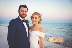Bride & Groom Portrait, Wedding, Diamondhead Beach Resort,  Fort Myers FL, by Doodle Fly Photogrpahy