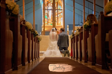 """I Promise"". Wedding Ceremony at The Church of the Resurrection.  by Doodle Fly Photography"