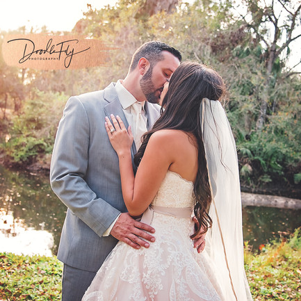 Bride & Groom Kiss, Wedding, Portraits, Country Wedding, Southern Waters,  by Doodle Fly Photos
