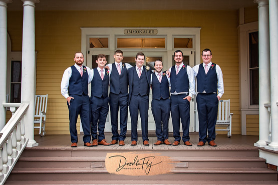 Groomsmen at the Burroughs Home, Fort Myers Florida Photo By Doodle Fly Photography www.DoodleFlyPhotos.com