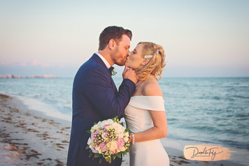 Bride and Groom Diamondhead Beach Resort, Fort Myers by Doodle Fly Photography