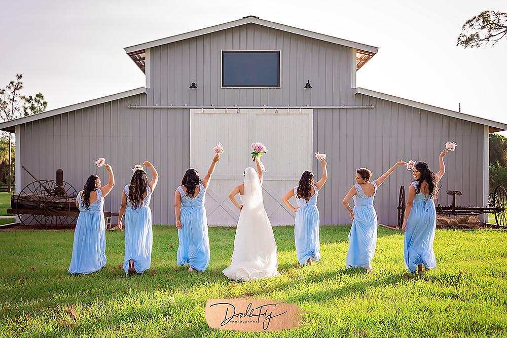 Bridal Party, Flowers, Diva Walk, Wedding Party, Barn Wedding, Country Wedding, Venue Naples Wedding Barn, Naples Florida, Wedding Photos by Doodle Fly Photography, Florida Wedding, SWFL Wedding, Naples Wedding