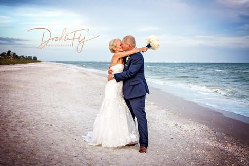 Bride & Groom  Sundial Beach Resort, Sanibel Florida by Doodle Fly Photography