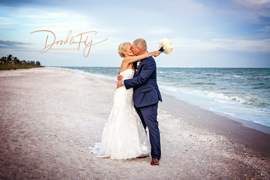 Bride & Groom  Sundial Beach Resort, Sanibel Florida by Doodle Fly Photography