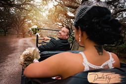 Tin Lizzy: Bride & Groom Photo in Old Antique Ford Tin Lizzy Car.  Taken at Arching Oaks Ranch, Labelle Florida by Photo By Doodle Fly Photography www.DoodleFlyPhotos.com