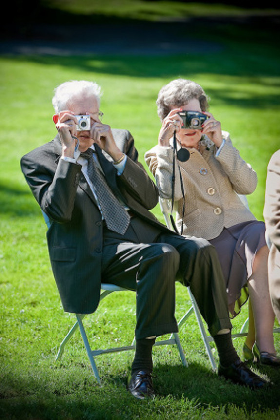 Wedding Guests Take Pictures