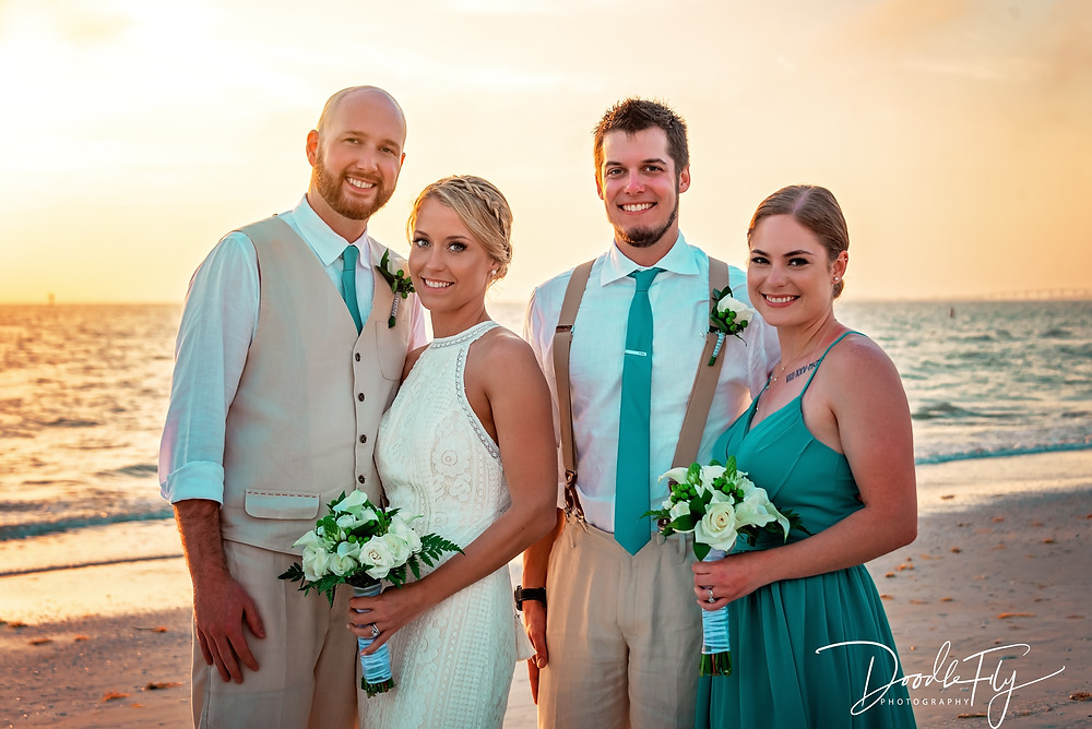 Wedding Photos, Wedding Party, Best Man, Maid Of Honor, Bridal Party, Sunset, Wedding Beach Photos, Fort Myers Beach Wedding Photos, , Bride & Groom, Fort Myers Beach, Pink Shell Resort, Wedding Photography,