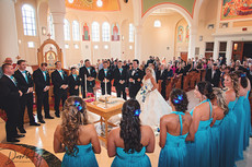 Church Ceremony, Greek Wedding, St Katerines Church, Naples FL, By Doodle Fly Photography