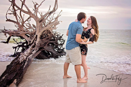 Couple - Engagement Session @Lovers Key Beach, Fort Myers Beach, Florida by Doodle Fly Photography
