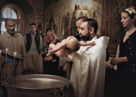 Съемка крещения в центре Москвы